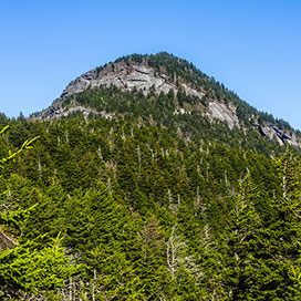 Rocky peak at Grandfather Mountain